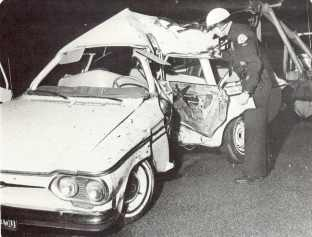 Auto Car Crash 1960s