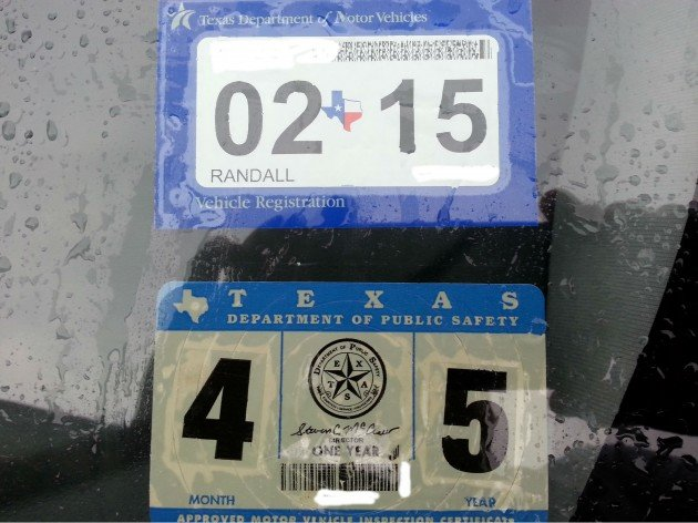 Car inspection sticker expired texas