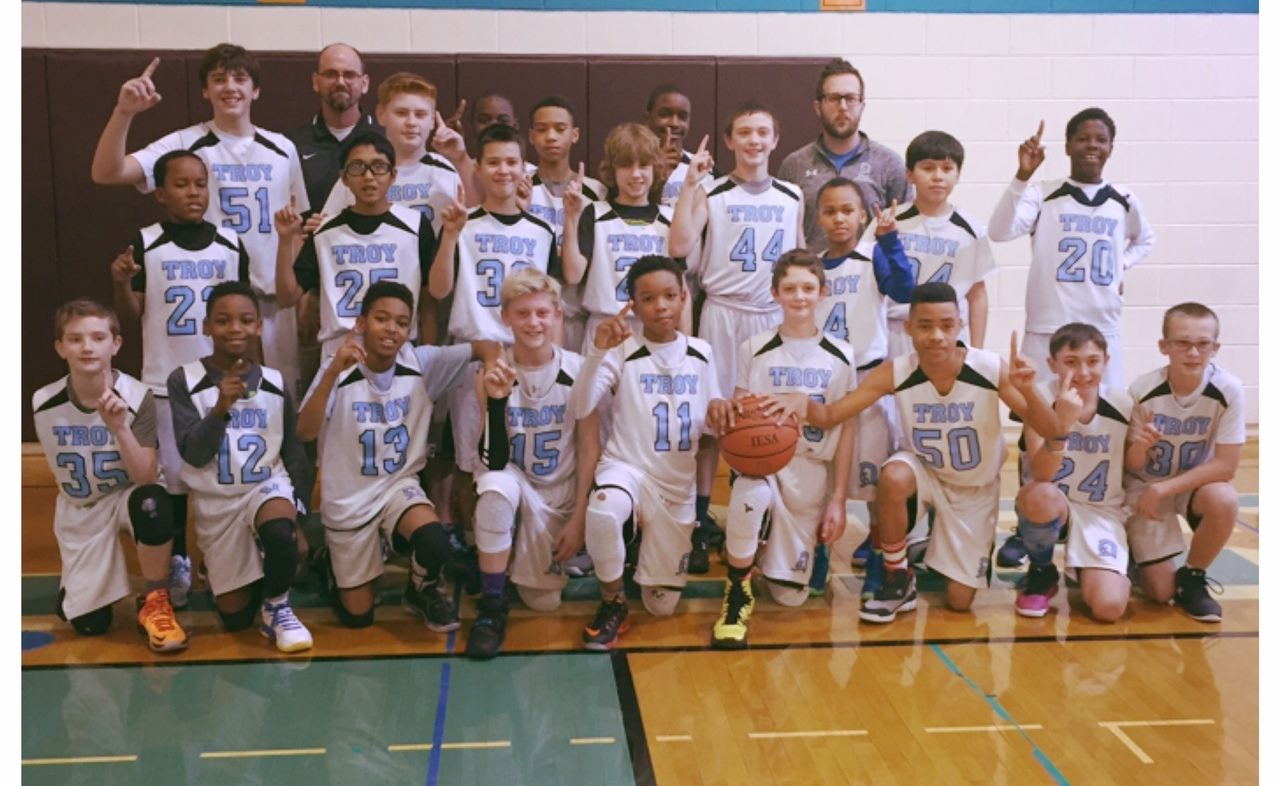 Troy Sixth Grade Boy S Basketball Team Wins Conference