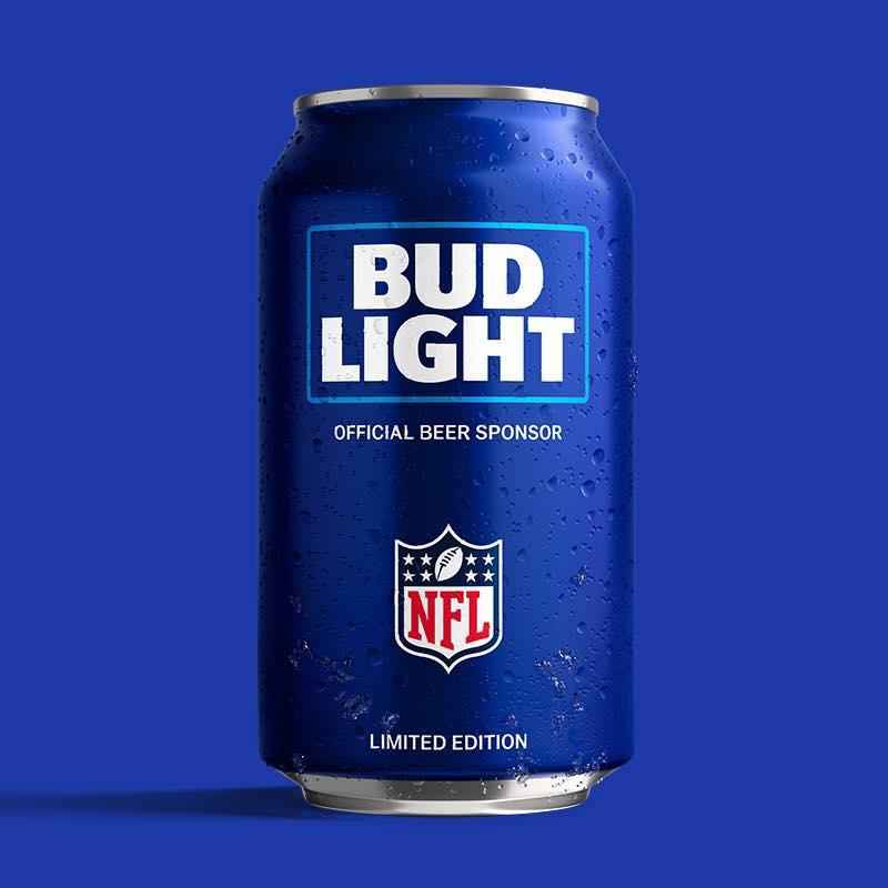 Bud Cans Light Football