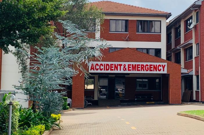 Every village needs EM - Classic Accidents and Emergency Entrance to Kenyan hospital_Credit Mel Herbert MD