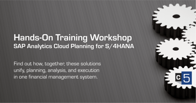 Hands-On Training Workshop SAP Analytics Cloud Planning for S-4HANA