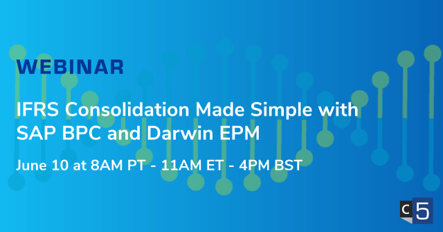 IFRS Consolidation Made Simple with SAP BPC and Darwin EPM