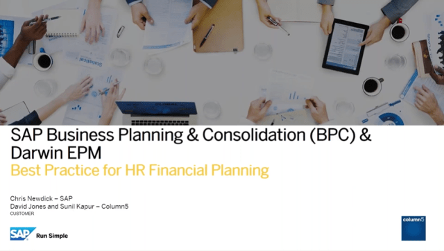Best Practice for HR Financial Planning – SAP UK
