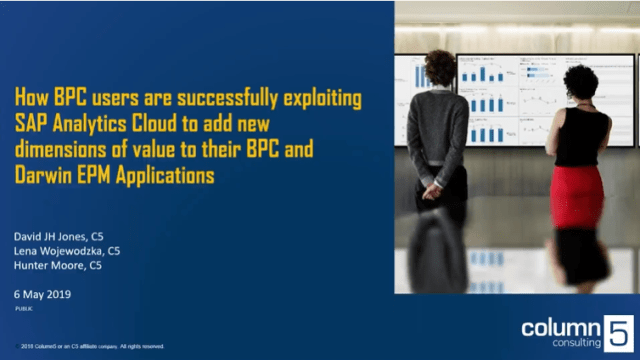 How BPC users are successfully exploiting SAP Analytics Cloud to add new dimensions of value to their BPC Applications