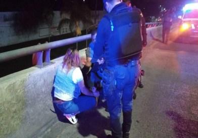JOVEN INTENTA SUICIDARSE AL LANZARSE DE PUENTE