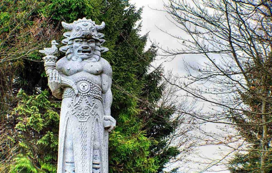 Magická socha Radegasta na Radhošti