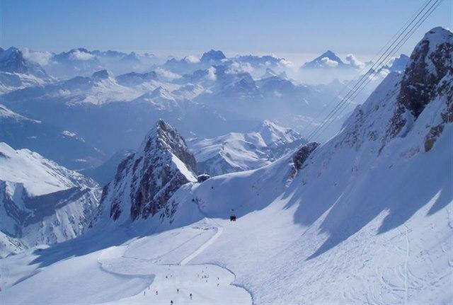 Nejlepší lyžování je na ledovci