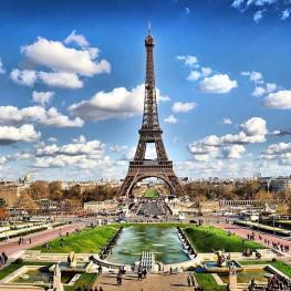 Paříž, město jako krásný obraz