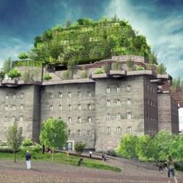 Protiletecká věž v Hamburku se změní v park!