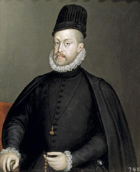 Španělský král Filip II. se má postarat o správnou výchovu svých dvou synovců.