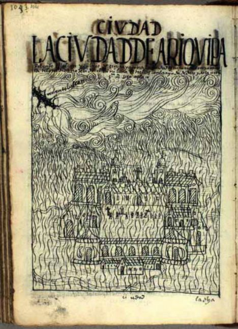 V roce 1600 spadne popel z Huaynaputiny i na město Arequipa.