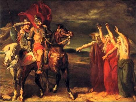Macbeth a Banquo s èarodìjnicemi; Théodore Chassériau