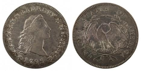 1795-$1-Flowing hair