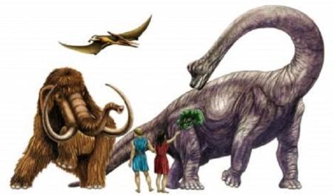 Je představa lidí a dinosaurů žijících společně na jedné planetě reálná?