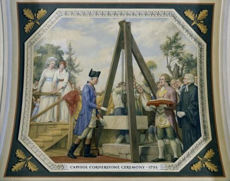 18. září 1793 položí Washington základní kámen nového hlavního města Spojených států amerických.