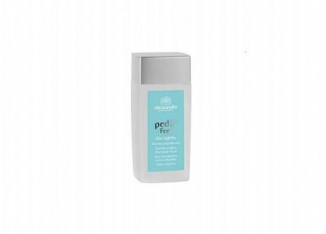 Alkalický roztok Pedix go lightly vám pomůže odstranit ztvrdlou kůži.