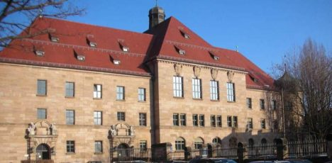 Soud s nacistickými zločinci probíhal v Justičním paláci v Norimberku.