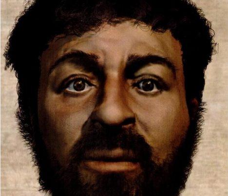 2 - Jedna z rekonstrukcí Kristovy tváře