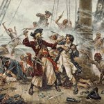 Uříznutá hlava slavného piráta Černovouse posloužila jako ozdoba