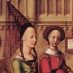Symboly gotiky: Urozené dámy se trumfovaly výškou svého čepce
