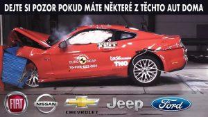 Jaká auta měla nejhorší výsledky crash testů?