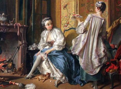 Punčochy si vážou dámy nad koleny pomocí stužky.
