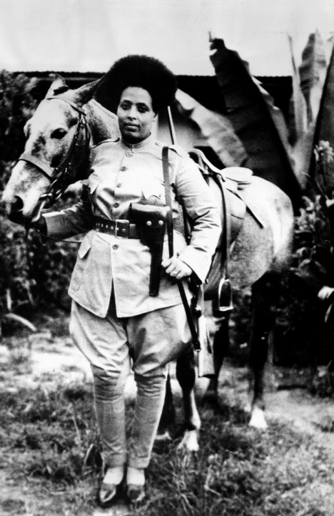 Second Italo-Ethiopian War Women were recruited for the Ethiopian Army after the country was invaded by Italy Each woman is provided with uniforms.