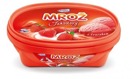 U Čechů vyhrává jahodová tvarohová zmrzlina.