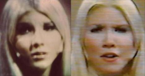 Údajná Plejáďanka Semjase vyfocená jedním z kontaktérů, byla později identifikována jako zpěvačka Michelle DellaFave.