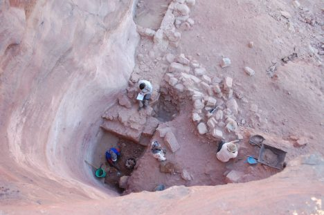 Water shaft in ancient Petra: Through it, water cleverly harvested from what little rain there is in the Jordanian desert was lowered to the level of the pool.Leigh-Ann Bedal read more: http://www.haaretz.com/jewish/archaeology/1.744119