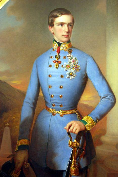 Už jako mladík si František Josef I. oblíbí uniformy.