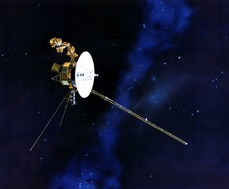 Artist's concept of Voyager in flight.