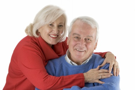 Close up of a senior happy couple. Camera: Canon 5D
