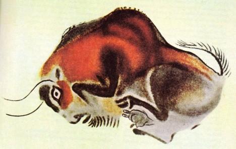 Jednou z nejznámějších maleb je znázornění bizona.