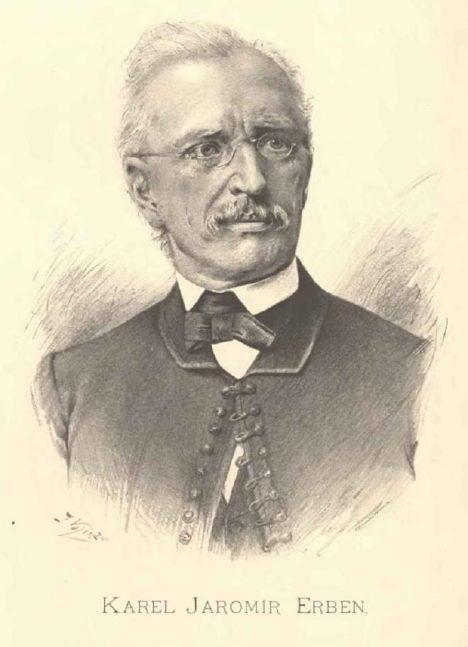 Básník Karel Jaromír Erben děkuje za podporu vydávání své tvorby hlavně hraběti Harrachovi.