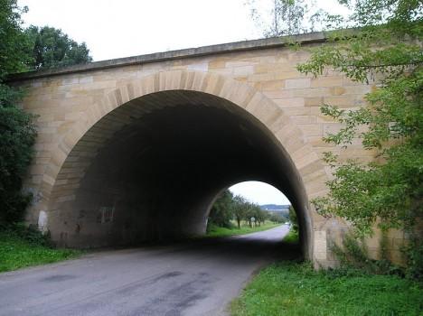 Dálniční most vybudovaný u Jevíčka na severozápadě Moravy.