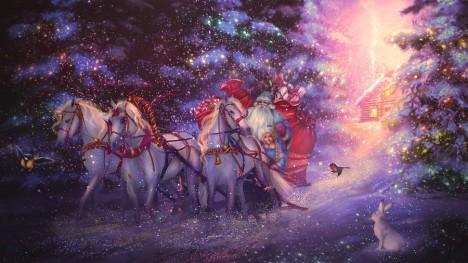 Dominantní postavou sovětských Vánoc se po roce 1918 stane děda Mráz přijíždějící na saních z Čukotky.
