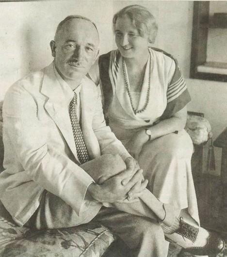 Edvard Beneš ještě jako ministr se svou ženou Hanou, která mu stojí věrně po boku.