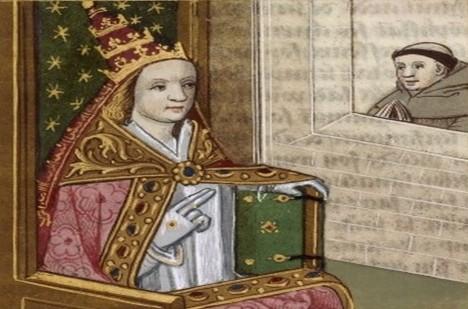Řada badatelů je přesvědčena, že v 9. století na papežském stolci usedla žena.