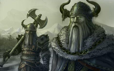 Vikinské válečníky si nejčastěji představujeme vrohatých přilbicích. Neexistuje ale jediný důkaz, že by něco podobného kdy nosili. Helmy nebo čapky srohy se objevují už na nástěnných malbách zdoby kamenné. Byly ale používané knáboženským obřadům, navíc pravděpodobně vymizely ještě před nástupem Vikingů. Orozšíření této mylné představy se přičinili kostyméři inscenací oper Richarda Wagnera z19.století.