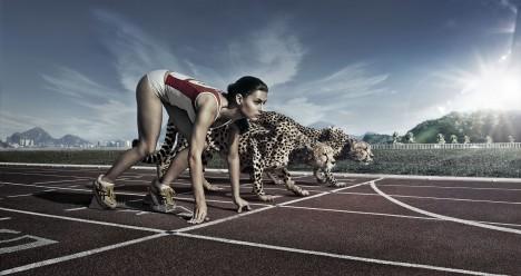 Sprinter Usain Bolt udělal při zdolání světového rekordu v běhu na 100 metrů zhruba 4,2 kroku za vteřinu. To mu ale stačilo jen na rychlost 44 kilometrů v hodině. Gepard zvládne stovku.