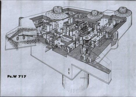 Pevnosti na povrchu byly projektovány tehdy nejmodernější technologií, aby tvořili nedobytnou obrannou linii.