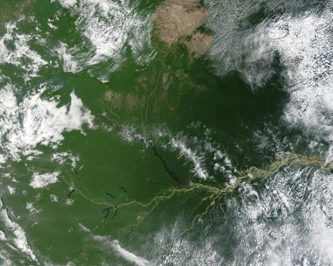 Povodí Amazonky zabírá 7 milionů kilometrů čtverečních. Kdybychom Evropu přestěhovali do Amazonie, i s přítoky by největší řeka zabrala bezmála celý kontinent.