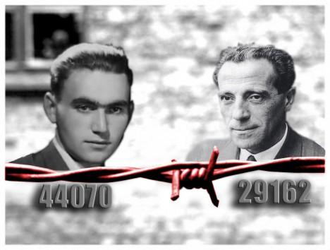 Alfrédu Wetzlerovi bylo 26 a Rudolfu Vrbovi 20 let, když se rozhodli uprchnout z Osvětimi. Čísla pod jejich podobiznami jsou jejich vězeňskými čísly.