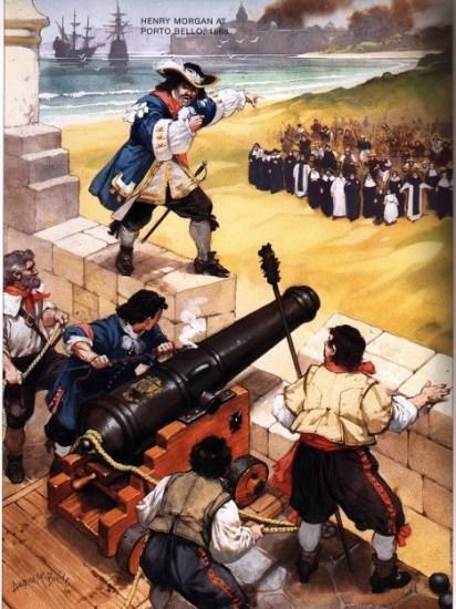 Mocní piráti, jako byl třeba Henry Morgan (1635–1688), se nebáli napadat ani opevněné a bohaté přístavy, například Panamu v roce 1668.