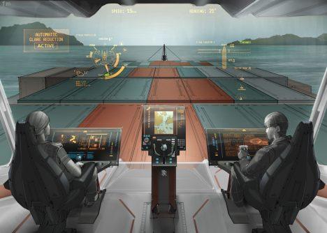 Kapitáni autonomních plavidel je budou řídit pomocí obrazovek podobně, jako by hráli nějakou počítačovou hru.