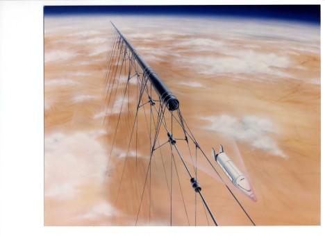 Pomocí elektromagnetického urychlení dosáhne nákladní loď v tunelu rychlosti 30 000 km/h a dokáže se tak dostat až na oběžnou dráhu.