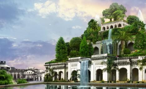 Legenda tvrdí, že legendární zahrady nechal vybudovat Nabukadnezar pro svou manželku Amytis, ale archeologům se to nikdy nepodařilo prokázat.