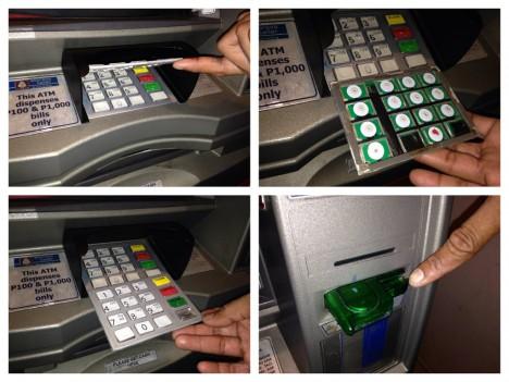 Pro zaznamenání PINu používají zloději falešných klávesnic se záznamovým zařízením nebo miniaturní kamery.